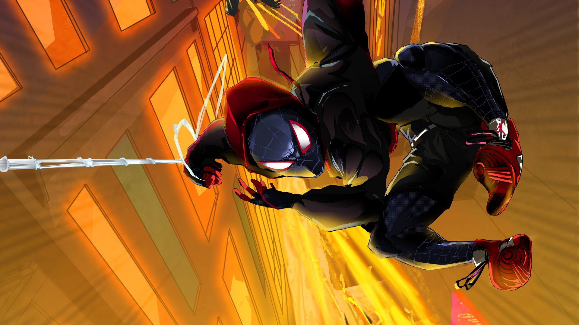 spider man into the spider verse artwork 4k wallpapers