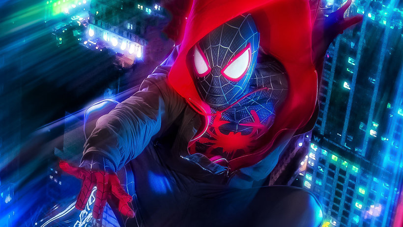 spider man into the spider verse miles morales cosplay 4k z552
