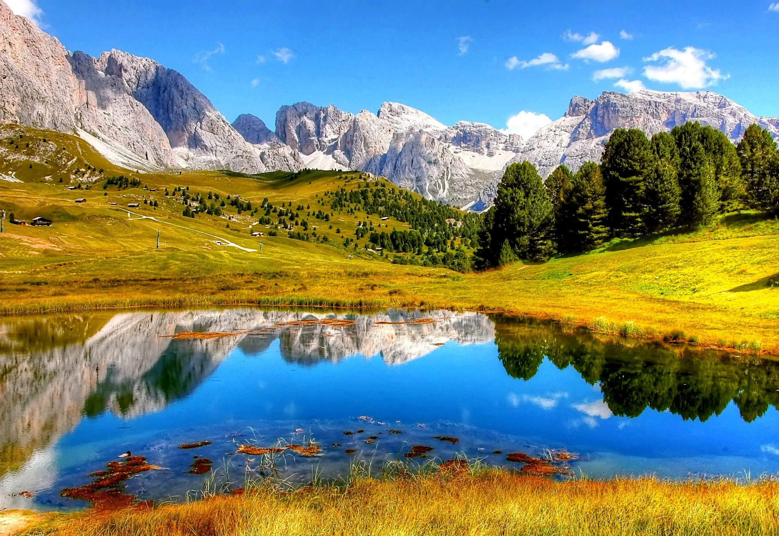 mountains lake sunny day summer landscape scenic reflection 2685x1846 1193