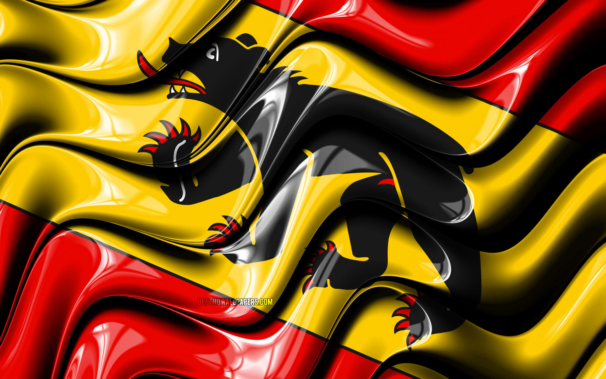 bern flag 4k cantons of switzerland administrative districts flag of bern