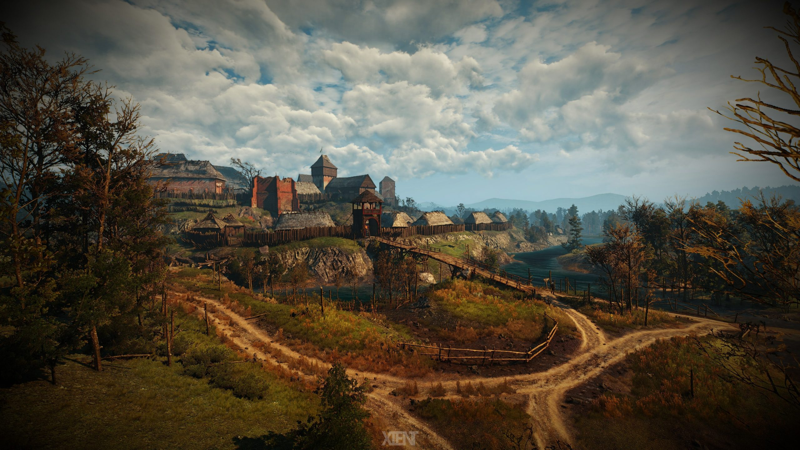 the witcher 3 game village