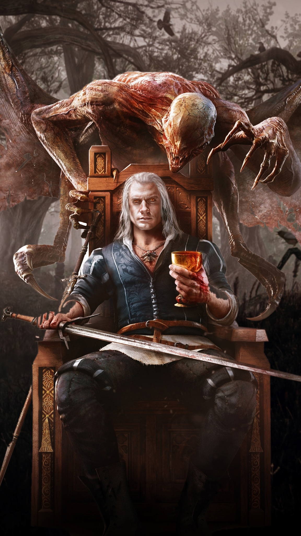 the witcher wallpaper for iphone pack
