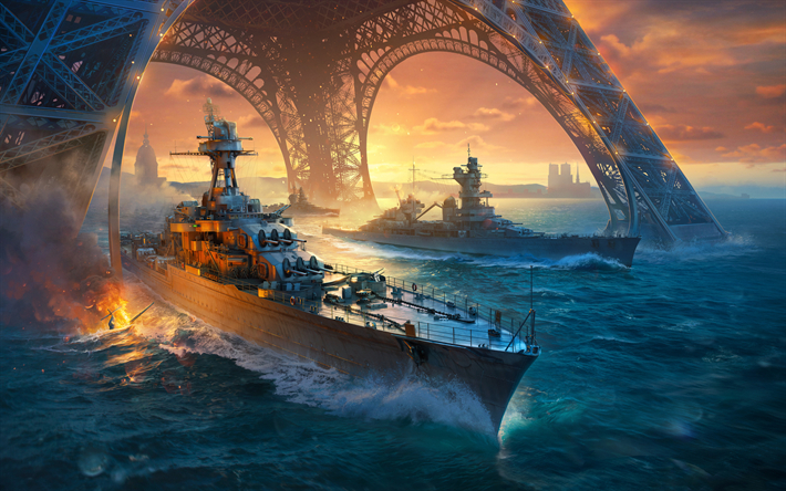 Download wallpapers 4k World Warships poster 2018 games WoWs besthqwallpapers